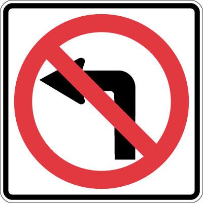 illegal left turn