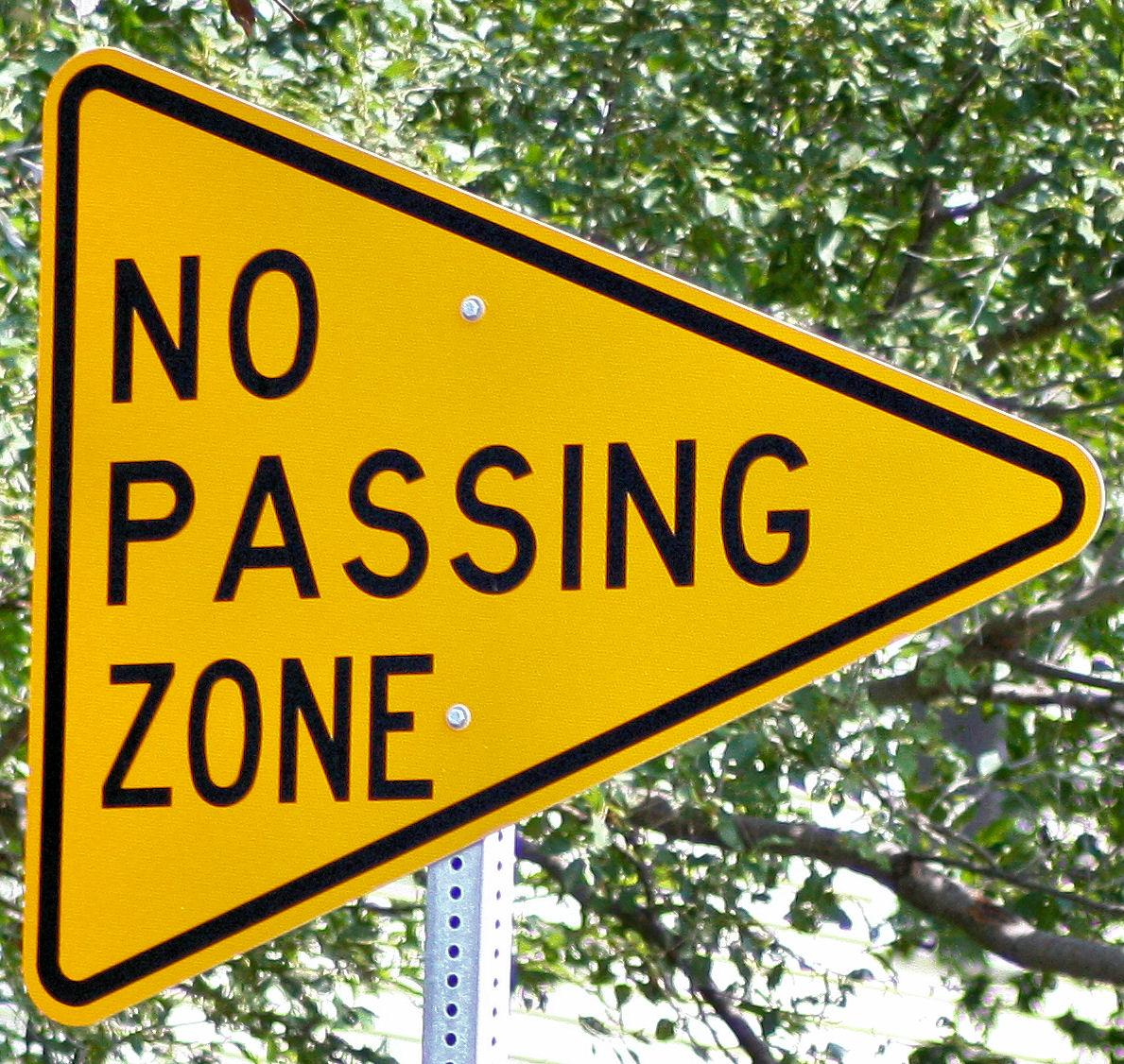 passing in a no passing zone